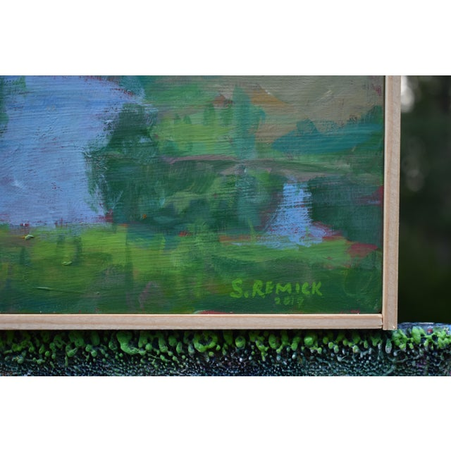 "2010s Stephen Remick ""The Frog Pond"" Contemporary Plein Air Painting For Sale - Image 5 of 9"