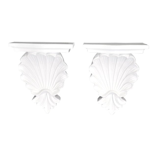 Shell Wall Shelves - a Pair - Image 1 of 5