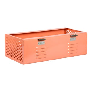 Double Wide Locker Basket in Peach, Custom Made to Order For Sale