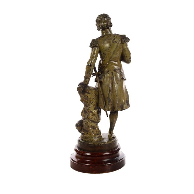 Gold 19th century Admiral Lord Nelson Metal sculpture For Sale - Image 8 of 9