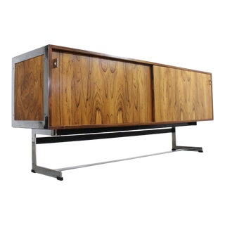 Mid-Century Modern Richard Young for Merrow Associates Chrome Credenza For Sale