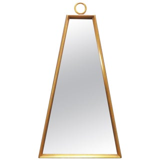 Giltwood Trapezoidal Wall Mirror in Manner of Tommi Parzinger, Circa 1960s For Sale