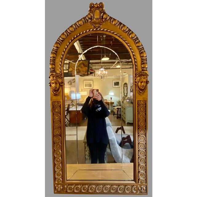 Pair of Neoclassical Wall or Console Mirrors, Giltwood Carved For Sale - Image 10 of 13