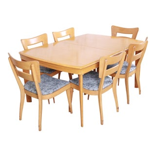 "Heywood Wakefield Mid-Century Modern ""Dog Bone"" Dining Set, 1950s - Set of 7 For Sale"