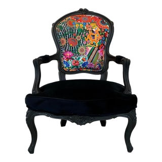 1910s Vintage Ornate Provincial Chair For Sale