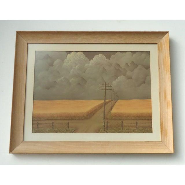 Country Vintage Regionalist Farm Landscape Print For Sale - Image 3 of 3