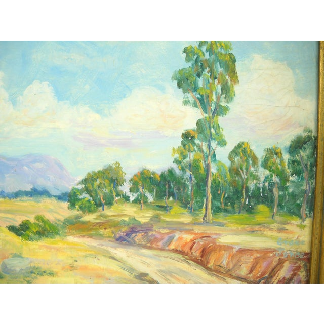 Giltwood 1930s California Landscape Oil Painting For Sale - Image 7 of 9