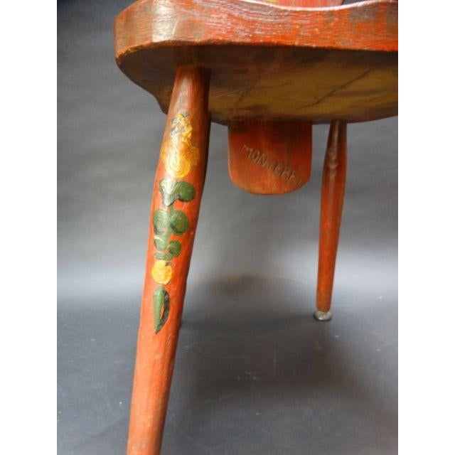 Monterey Classic Red Keyhole Chair - Image 4 of 8