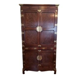 Asian Amoire Hutch Desk For Sale