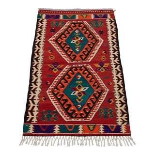 Anatolia Wool Turkish Kilim Rug - 2′9″ × 4′4″ For Sale