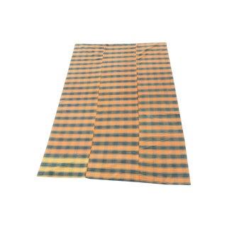 Vintage Orange & Black Kilim Rug - 5′8″ × 9′6″ For Sale