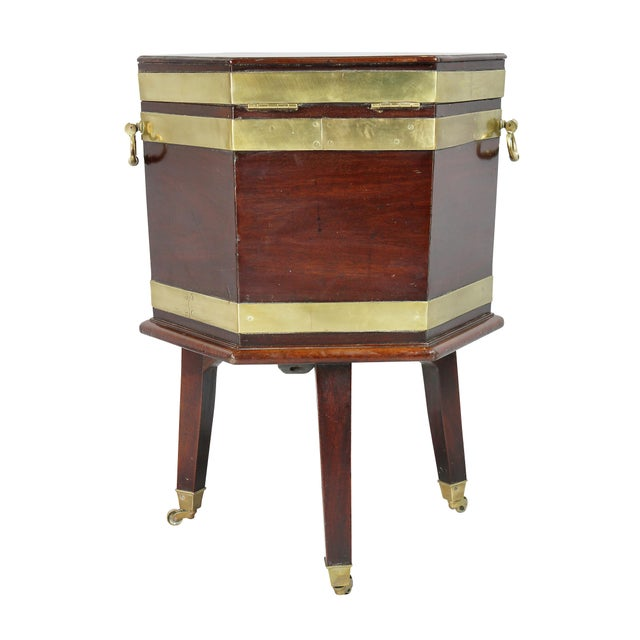 George III Mahogany and Brass Mounted Celleret For Sale - Image 10 of 11