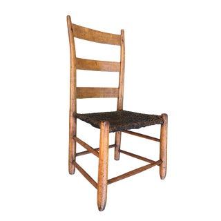 1800's Vintage Dick Poynor Ladder Back Chair For Sale