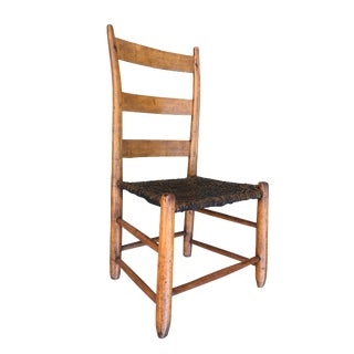 19th Century Antique Ladder Back Chair For Sale