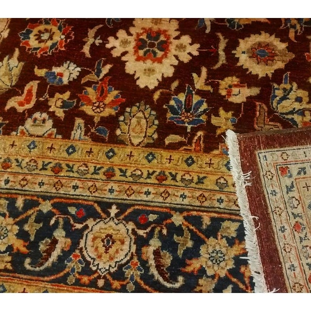 Kafkaz Peshawar Red & Blue Wool Rug - 9'0 X 12'2 For Sale In New York - Image 6 of 7