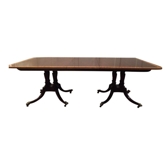 Baker Double Pedestal Mahogany Dining Table - Image 1 of 7