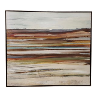 """Naomi Hardy (American, 20th C.) """"Tundra"""" Large Abstract Painting C.1970s For Sale"""
