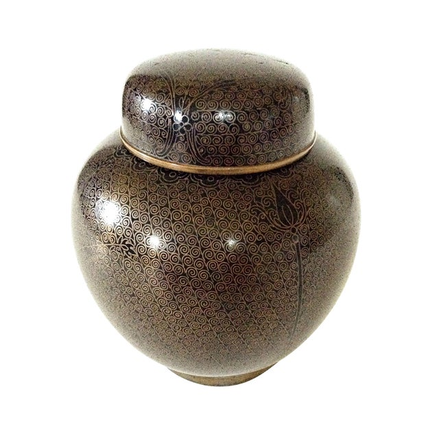 Cloisonne Ginger Jar For Sale