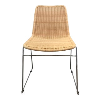 Woven Wicker Stacking Chair