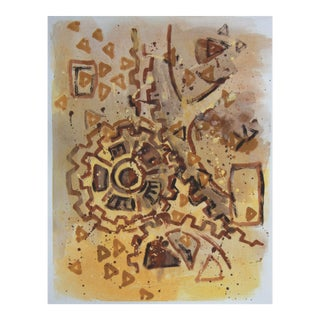 Abstract Industrial Gear Painting by Cleo For Sale