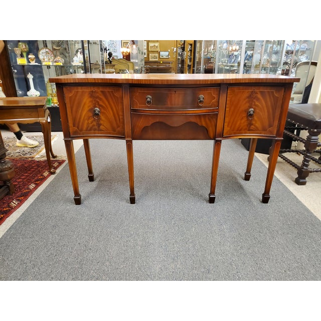 Antique Georgian Style Flamed Mahogany Sideboard For Sale - Image 13 of 13