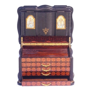 19th C. French Parquetry and Marquetry Jewel Box For Sale