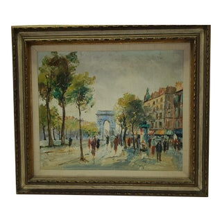 """Mid 20th Century """"Paris of Yesteryear"""" Painting For Sale"""