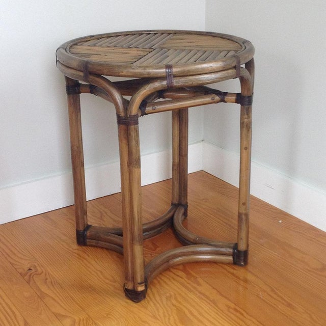 Bentwood & Rattan Side Table - Image 6 of 8