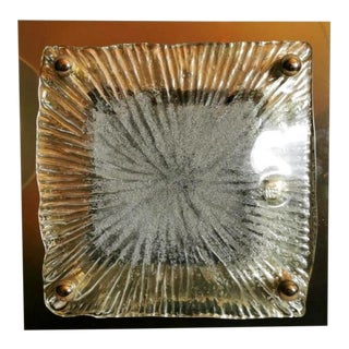 1970 La Murrina Steel and Glass Ceiling/Wall Lamp For Sale