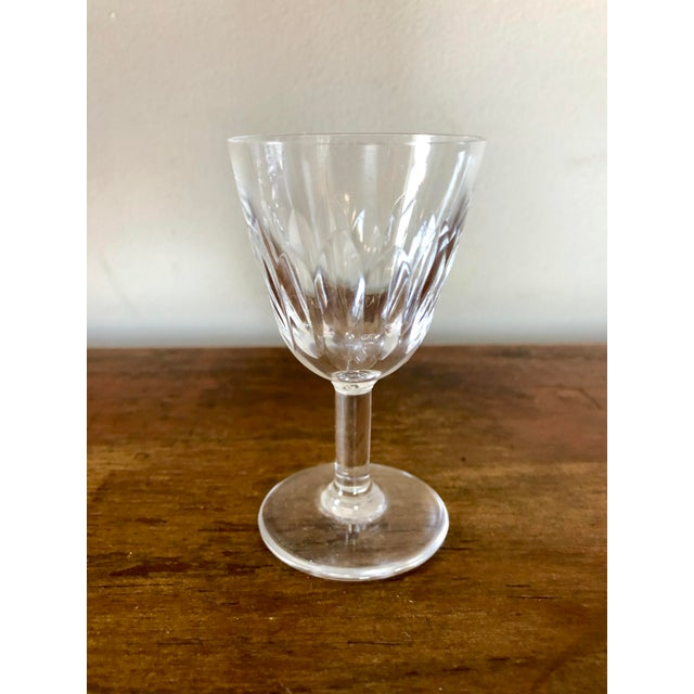 Set of 12 Baccarat crystal cordial glasses. Stamped on bottom. See seller's other listings for a set of 10 slightly larger...