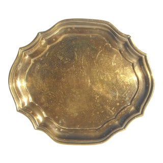Chippendale Style Brass Serving Tray