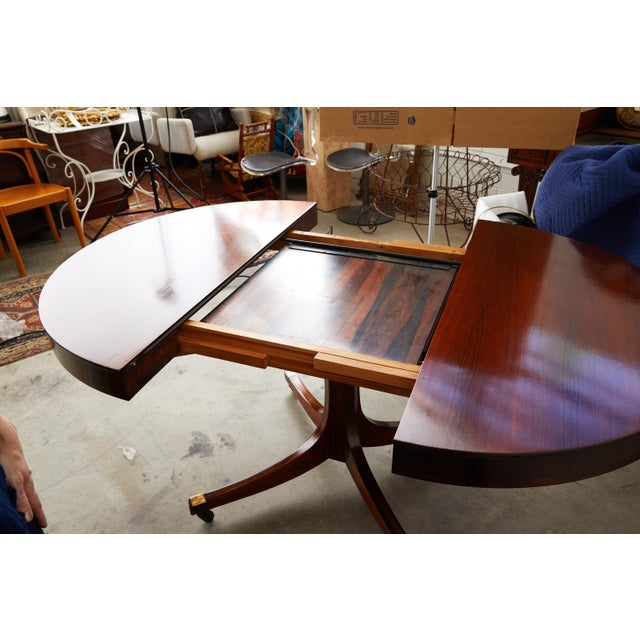 Mid 20th Century Mid-Century Italian Convertible Dining Table With Self Containing Leaf For Sale - Image 5 of 9
