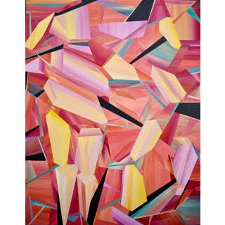Contemporary Op Art Geometric Acrylic Painting by ACD