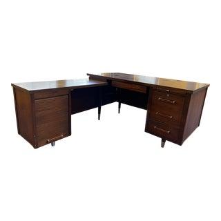 Vintage Alma Mid Century Modern L Shape Desk For Sale
