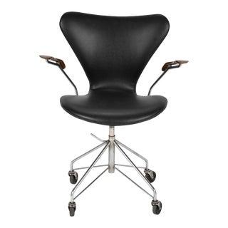 Arne Jacobsen for Fritz Hansen Sevener Desk Chair Model 3117 For Sale