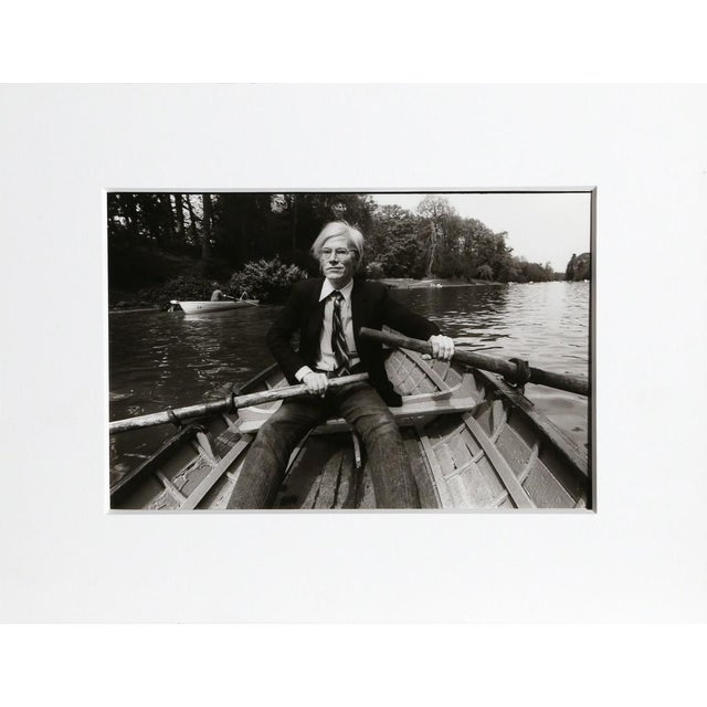 Pop Art Christopher Makos, At the Bois de Boulogne (Warhol: Ten Images), 1981 From the series From the Warhol | Ten Images Portfolio For Sale - Image 3 of 3