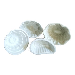 English Ironstone Pudding Molds, 4 Piece For Sale