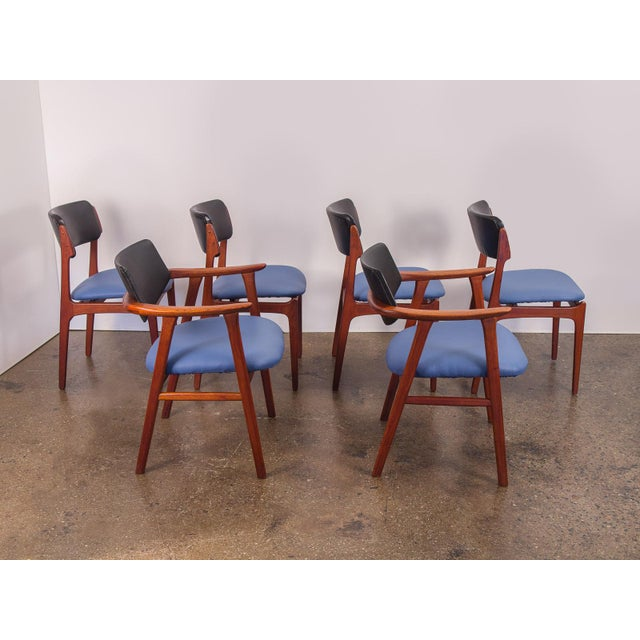 Set of 6 Erik Buck Style Teak Dining Chairs - Image 3 of 11