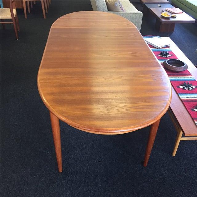 Danish Teak Dining Table - Image 7 of 9