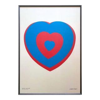 "Marcel Duchamp Offset Lithograph Print Large Framed Modernist Museum Poster "" Coeur Volant "" 1936 For Sale"