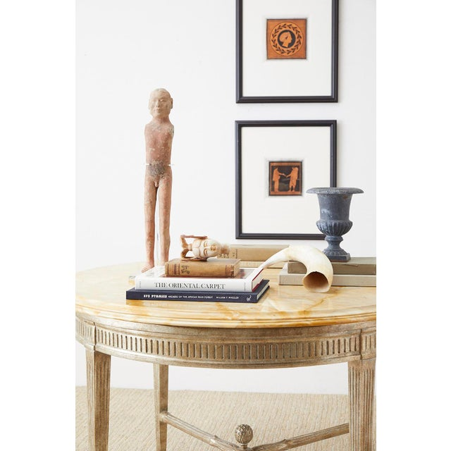 Neoclassical Style Silver Gilt Marble-Top Center Table For Sale - Image 4 of 13