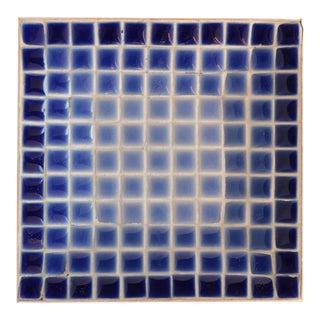 Blue Ombre Mid-Century Mosaic Tile Dish For Sale
