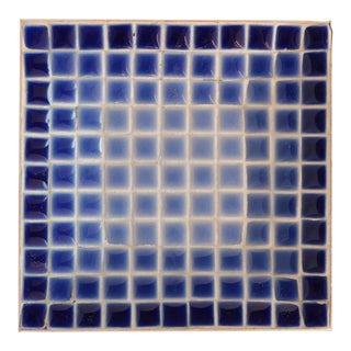 Mid 20th Century Blue Ombre Mid-Century Mosaic Tile Dish For Sale