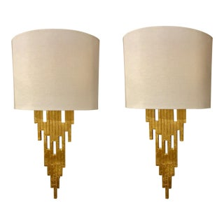 Worlds Away Gold Haley Sconces - a Pair For Sale
