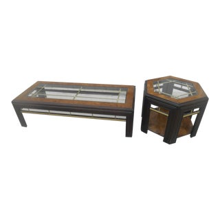 Mid-Century Modern Milo Baughman Style Coffee/ End Table Set - 2 Pc.