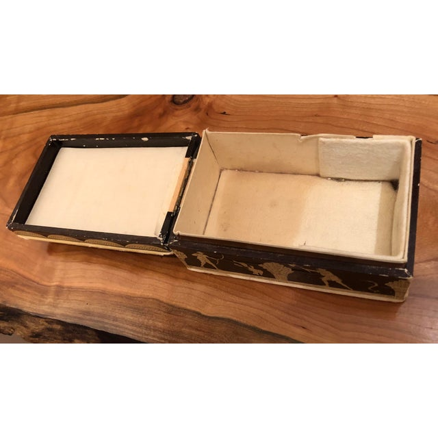 Brown Vintage Mid-Century Hinged Guerlain Box For Sale - Image 8 of 12