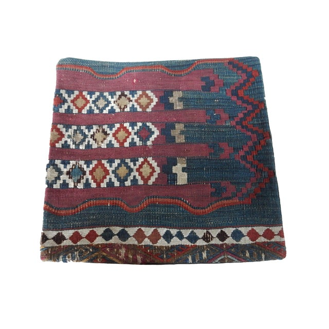 Antique Tribal Kilim Pillow Cover - Image 6 of 6
