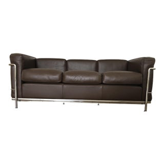 LC2 Petit Modele Three-Seat Sofa For Sale