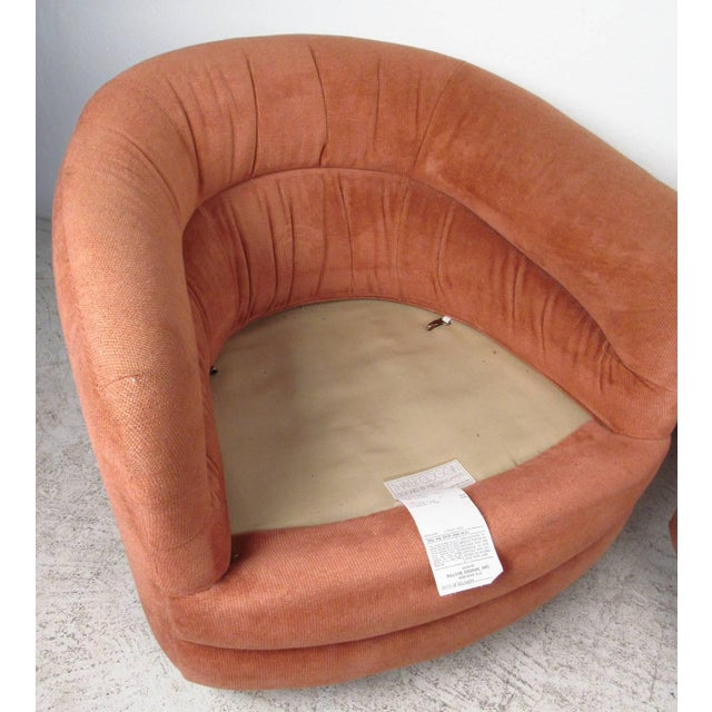 1960s Milo Baughman for Thayer Coggin Swivel Tub Chairs - A Pair For Sale - Image 5 of 7