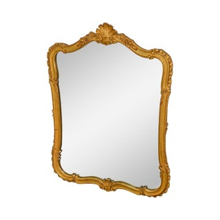 Kindel Vintage French Louis XV Style Gilt Wood Wall Mirror For Sale